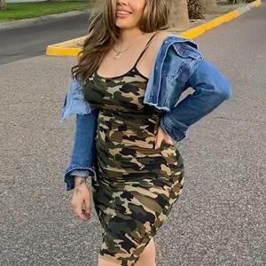 Camouflage army Green Dress